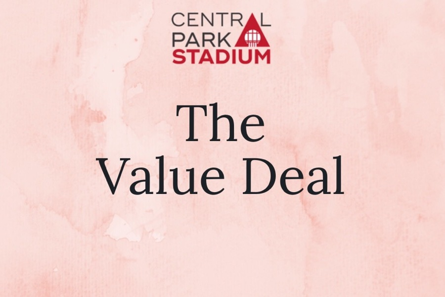 The Value Deal - £15 for 2 Adults